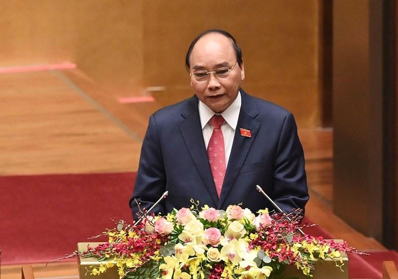 Thủ tướng Chính phủ Nguyễn Xuân Phúc trình bày báo cáo công tác nhiệm kỳ Chính phủ. Nguồn: chinhphu.vn