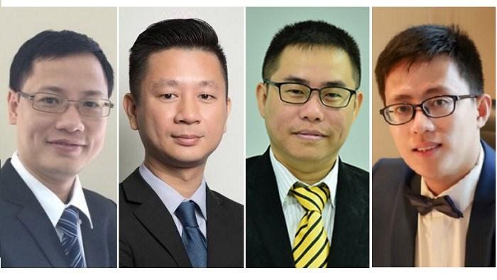 Các chuyên gia từ trái qua: Ông Bùi Nguyên Khoa, Nguyễn Đức Hùng Linh, Phan Dũng Khánh và Nguyễn Thế Minh.