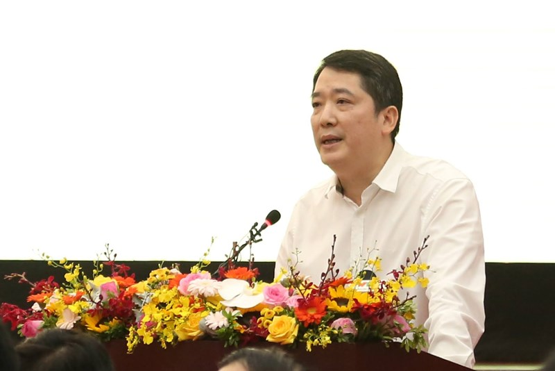 Tổng cục trưởng Tổng cục Thuế Cao Anh Tuấn phát biểu tại Hội nghị