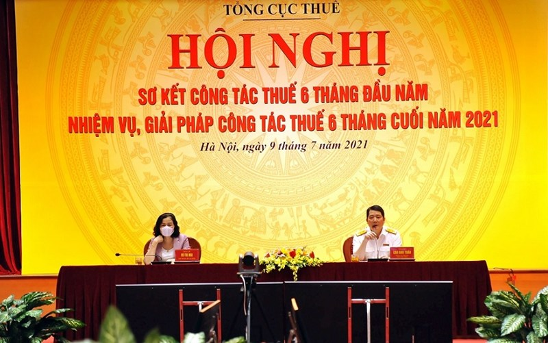 Thứ trưởng Bộ Tài chính Vũ Thị Mai tới dự và chỉ đạo hội nghị