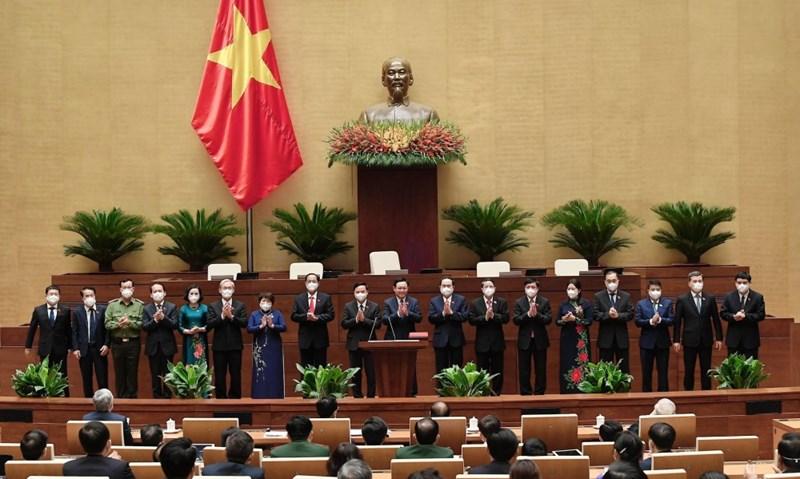 Ủy ban Thường vụ Quốc hội khóa XV ra mắt.