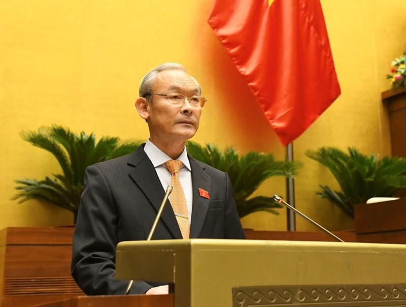 Chủ nhiệm Ủy ban Tài chính, Ngân sách của Quốc hộiNguyễn Phú Cườngtrình bày Báo cáo thẩm tra về kế hoạch đầu tư công trung hạn giai đoạn 2021-2025.
