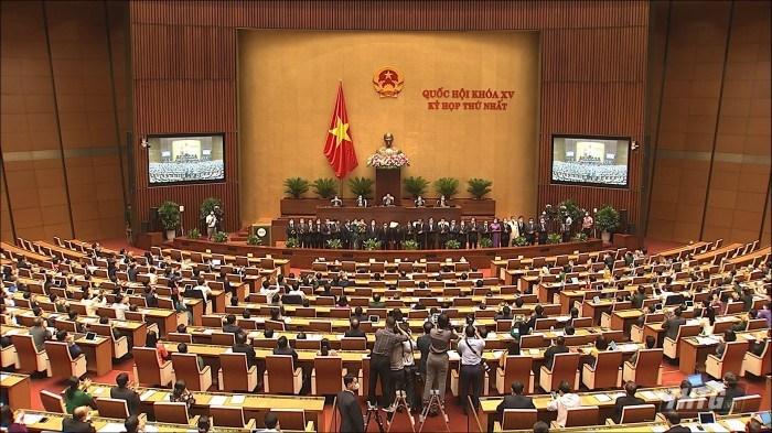 Các thành viên Chính phủ nhiệm kỳ 2021-2026 ra mắt trước Quốc hội.