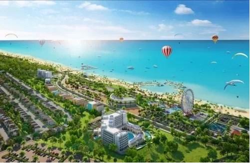 Phối cảnh một dự án tổ hợp du lịch nghỉ dưỡng giải trí quy mô khủng tại Phan Thiết.