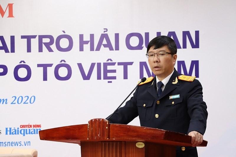 Phó Tổng cục trưởng Tổng cục Hải quan Lưu Mạnh Tưởng phát biểu chỉ đạo tại buối Tọa đàm.