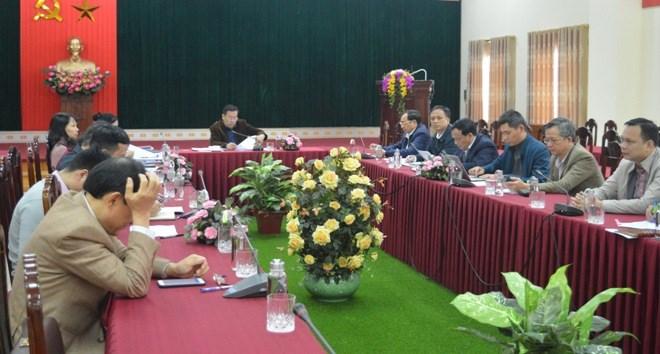 Các đại biểu dự Hội nghị trực tuyến tại điểm cầu tỉnh Yên Bái.