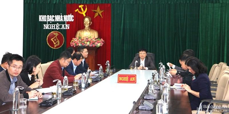 Các đại diện dự Hội nghị tại điểm cầu Nghệ An.