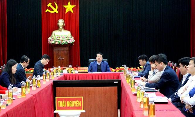 Dự Hội nghị tại điểm cầu Thái Nguyên có ông Dương Văn Lượng, Phó Chủ tịch UBND Tỉnh, cùng lãnh đạo các sở, ngành liên quan.