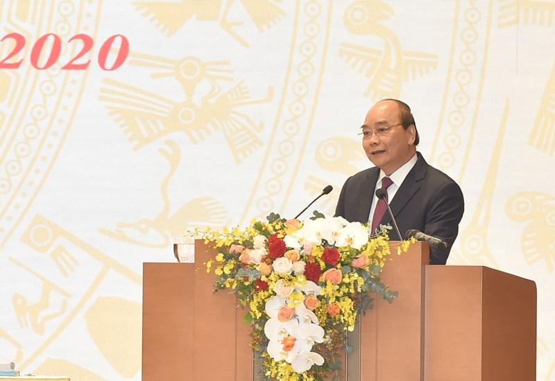 Thủ tướng Chính phủ Nguyễn Xuân Phúc phát biểu khai mạc Hội nghị. Nguồn: baochinhphu.vn