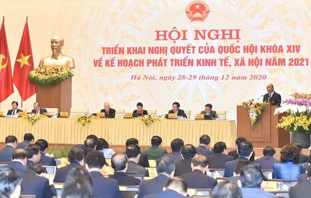 Toàn cảnh Hội nghị trực tuyến Chính phủ với các địa phươngdiễn ra trong 02 ngày 28 và 29/12.