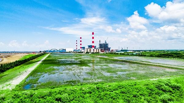 Bãi chứa tro, xỉ thuộc Công ty Nhiệt điện Duyên Hải.