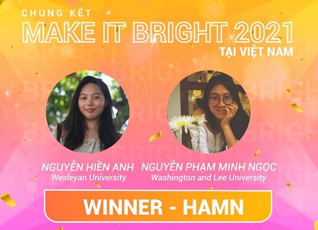 Quán Quân chương trình Make It Bright tại Việt Nam – Đội HAMN.