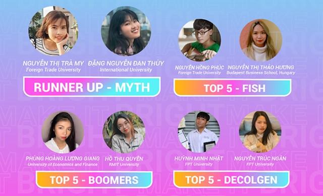 Á Quân – đội Myth và TOP 5 chương trình Make It Bright tại Việt Nam.