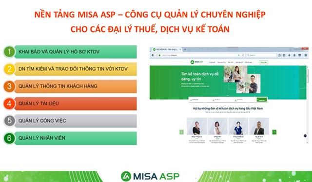 Giải pháp nền tảng MISA ASP là công cụ quản lý chuyên nghiệp cho các đại lý thuế và dịch vụ kế toán