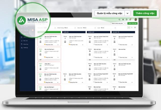 Nền tảng MISA ASP giúp các Kế toán dịch vụ quản lý dữ liệu dễ dàng, thuận tiện.