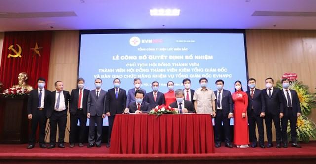 Lễ công bố Quyết định bổ nhiệm Chủ tịch HĐTV và Tổng Giám đốc EVNNPC.