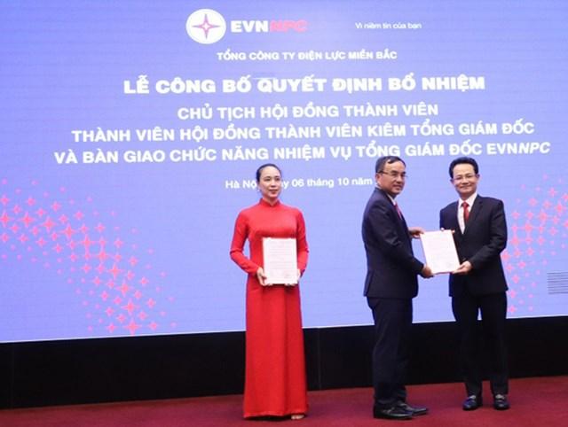 Ông Nguyễn Đức Thiện được bổ nhiệm chức danh Thành viên HĐTVkiêm Tổng Giám đốc EVNNPC.