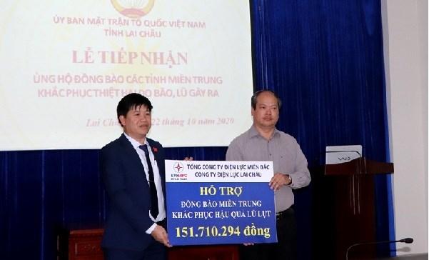 Công ty Điện lực Lai Châu ủng hộ