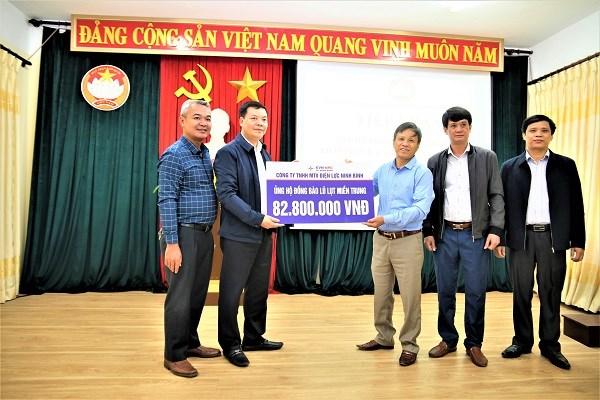 Công ty Điện lực Ninh Bình ủng hộ
