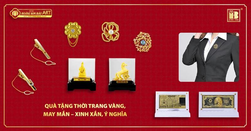 Sản phẩm quà tặng Thời trang Vàng.