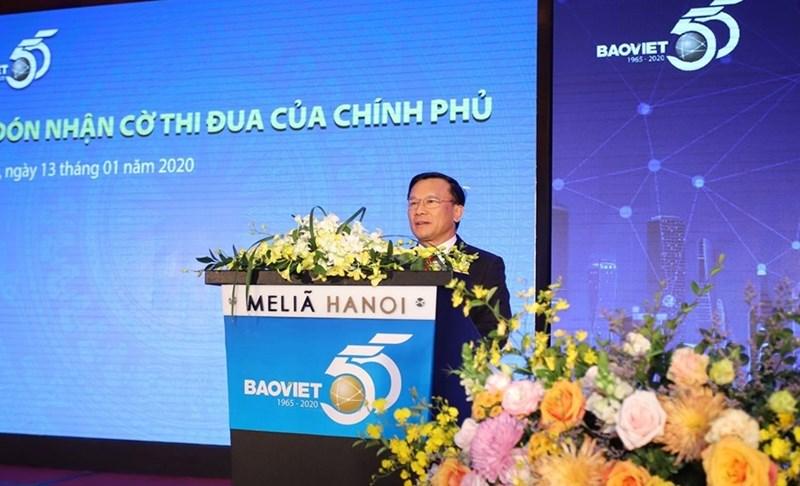 Thứ trưởng Bộ Tài chính Trần Văn Hiếu phát biểu tại Buổi lễ.