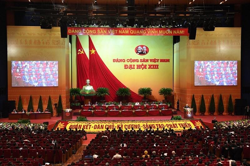 Toàn cảnhĐại hội đại biểu toàn quốc lần thứ XIII của Đảng.