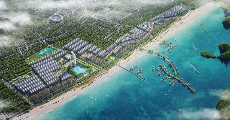 Phối cảnh tổng thể dự án Green Dragon City .