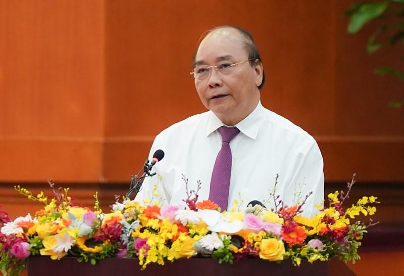Thủ tướng Nguyễn Xuân Phúcphát biểu tại Hội nghị. Ảnh: VGP/Quang Hiếu