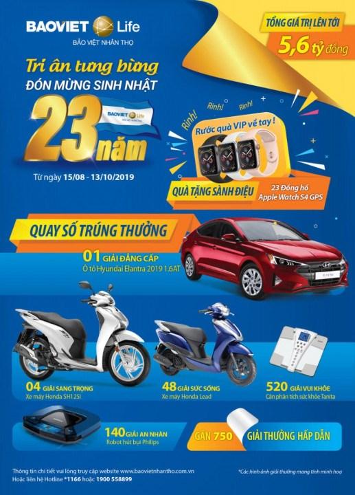 Bảo Việt Nhân thọ trao tặng ô tô kỷ niệm 23 năm tiên phong và phát triển - Ảnh 1