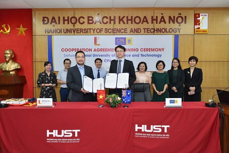 CPA Australia ký Thỏa thuận hợp tác với Đại học Bách Khoa Hà Nội.