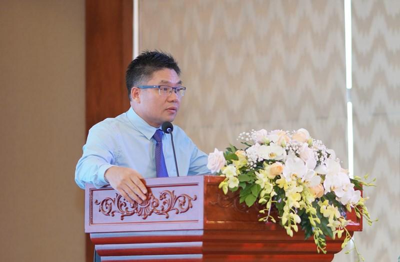 Ông Nguyễn Thành Long, Chủ tịch Hội đồng Quản trị HNX phát biểu tại Hội nghị.