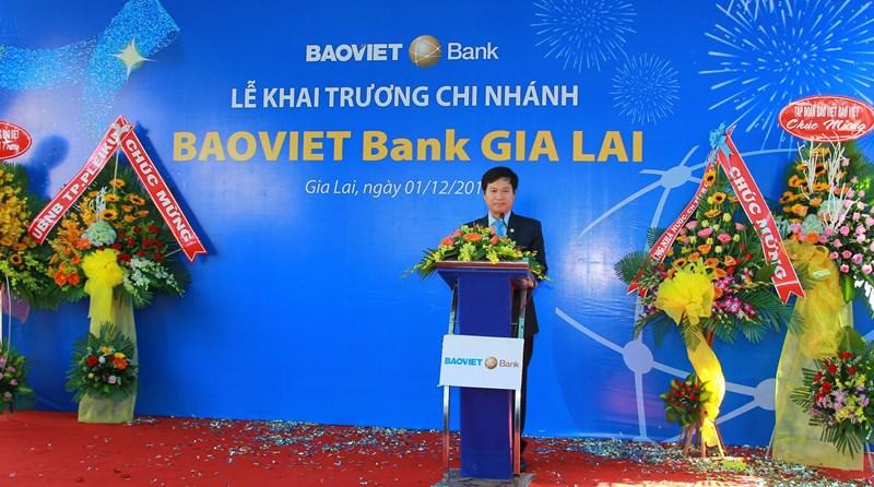 Đại diện lãnh đạo BAOVIET Bank Gia Lai phát biểu tại Lễ Khai trương.
