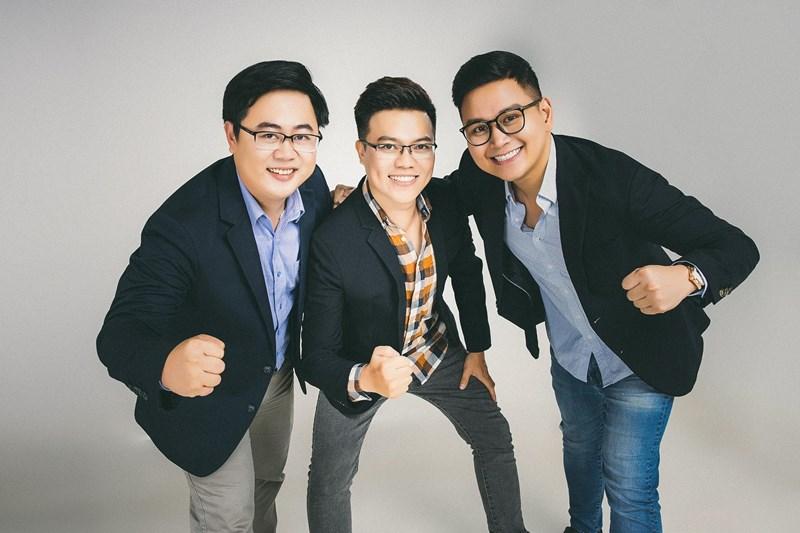 Các nhà sáng lập Riviu (từ trái sang): COO Đặng Nhất Duy, CTO Lê Đình Thái và CEO Đặng Lê Huy.