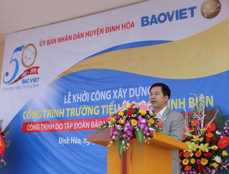 Ông Đào Đình Thi – Chủ tịch Hội đồng Quản trị Tập đoàn Bảo Việt đảm nhận vị trí Phó Chủ tịch VBCSD phát biểu tại Đại hội.