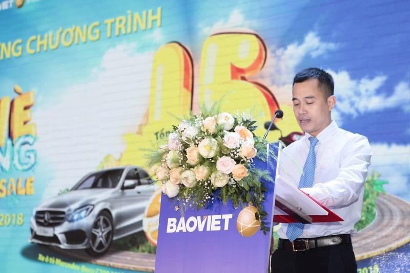 Ông Nguyễn Anh Tuấn - Giám đốc Khối Quản lý Tập đoàn Bảo Việt phát biểu tại buổi lễ.