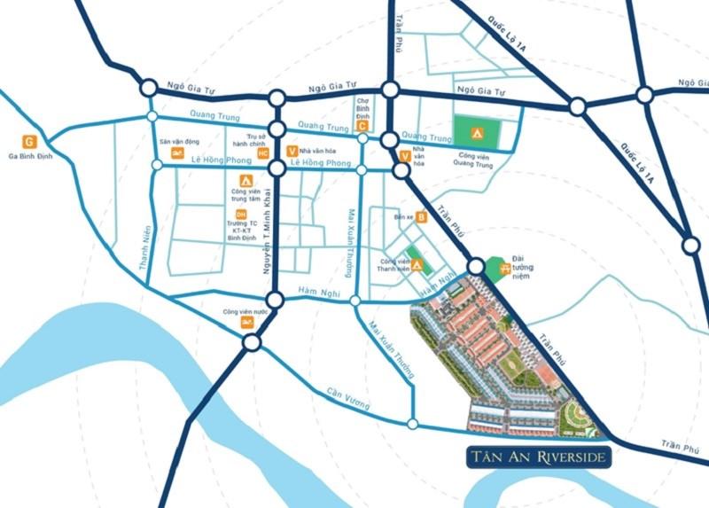 Vị trí dự án Khu đô thị Tân An RiverSide