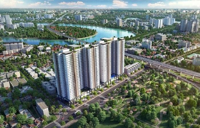 Phối cảnh dự án Phương Đông Green Park.