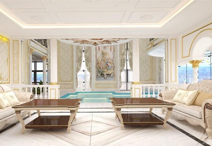 281 căn hộ từ 80-140m2đều lấy cảm hứng từ dấu ấn kiến trúc vượt thời gian Châu Âu- mạnh mẽ, hùng vĩ của Thành Rome- La Mã.