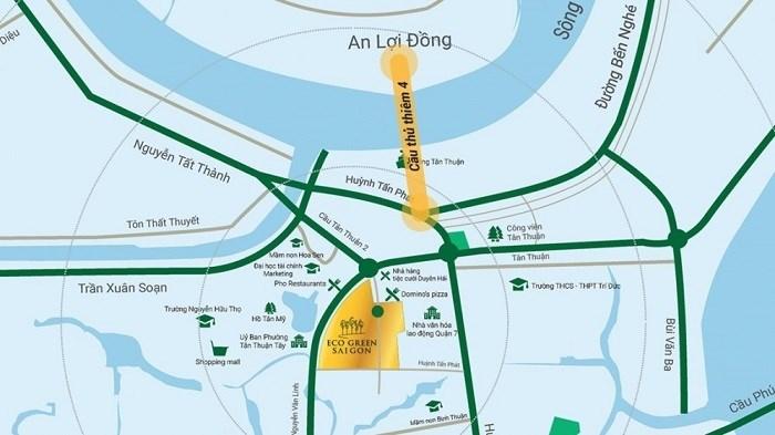 Eco Green Sài Gòn tọa lạc tại vị trí đắc địa khu Nam Sài Gòn.