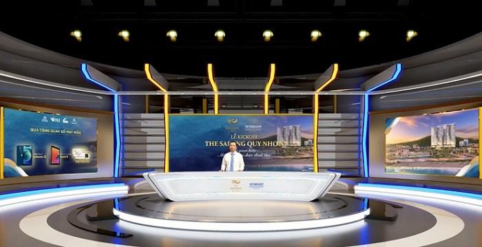 Hình 3 – Ông Nguyễn Đăng Gô Ganh, Chủ tịch HĐQT Chủ đầu tư Đô Thành chia sẻ về quyết tâm phát triển dự án với quy mô đẳng cấp bậc nhất thành phố biển Quy Nhơn.