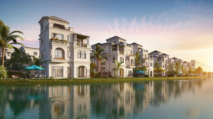 """Nhà biệt thự (Villas) bao gồm biệt thự đơn lập và biệt thự song lập quy hoạch """"nổi"""" trên mặt hồ rộng 7,2ha"""