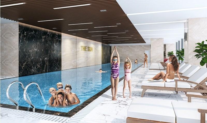 Bể bơi cao cấp tại dự án The Sun
