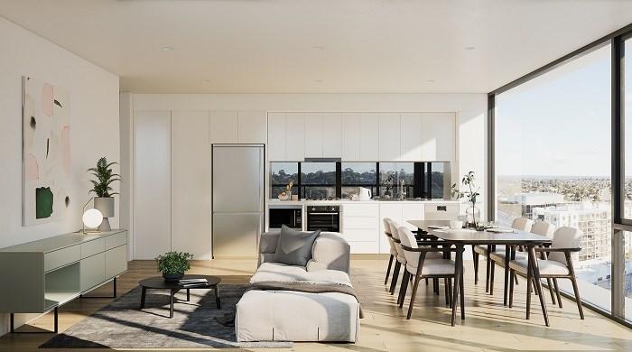 Thiết kế tinh tế, sang trọng và khoáng đạt của căn hộ Spring Square.