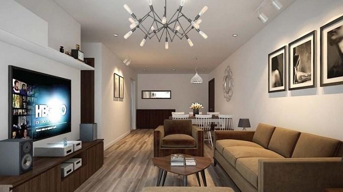 Phối cảnh căn hộ Smile Building với thiết kế hiện đại, sang trọng, đậm chất Á Đông.