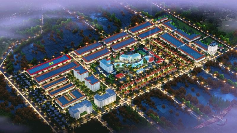 Phối cảnh Khu đô thị Hoàng Long nằm trong quy hoạch khu tây Nha Trang.