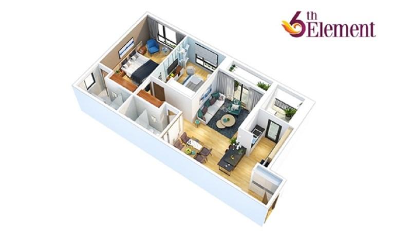 Căn hộ hợp lý từ 1-3 phòng ngủ trang bị nội thất cao cấp