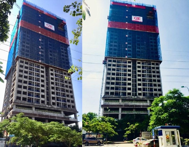 Thực tế tiến độ xây dựng chung cư The Sun Mễ Trì