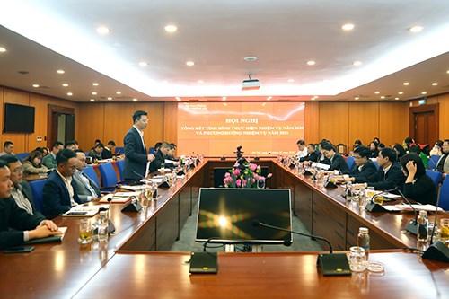 Ông Trần Quân - Chánh Văn phòng Bộ Tài chính phát biểu tại Hội nghị.