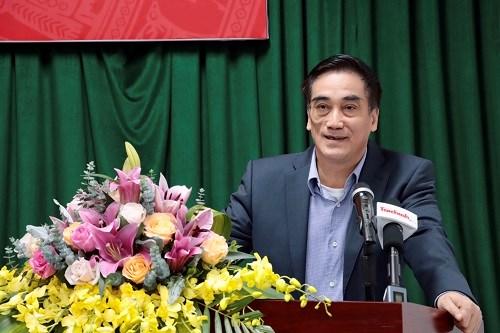 Thứ trưởng Bộ Tài chính Trần Xuân Hà phát biểu chỉ đạo tại hội nghị. Ảnh: T.T.