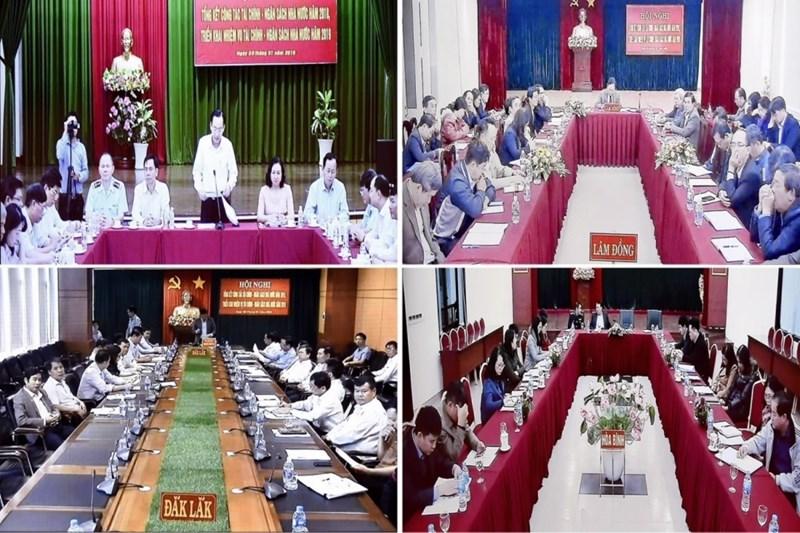 Điểm cầu truyền hình Hội nghị tại một số địa phương.